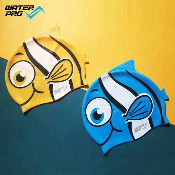 Water Pro Silicone Swim Cap for Kids