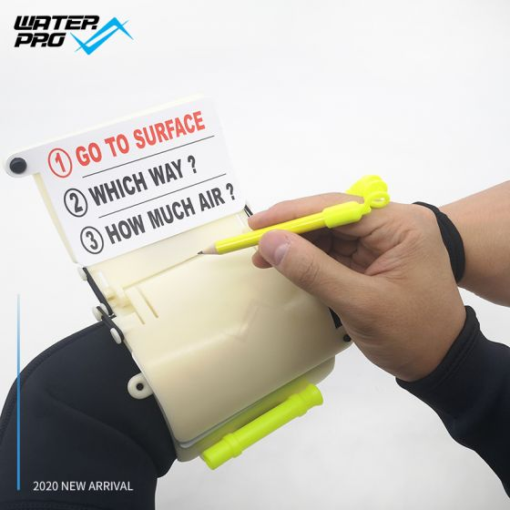 WATER PRO 3 Panels Wrist Writing Dive Slate with Pencil