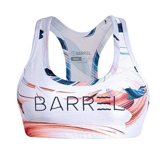 Barrel Womens Big Logo Pattern Bra Top-HAZE