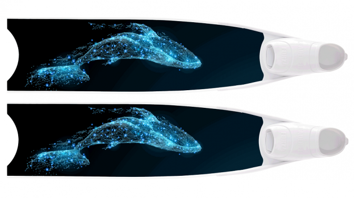LEADERFINS LIMITED EDITION CREATURE BI-FINS-WHI