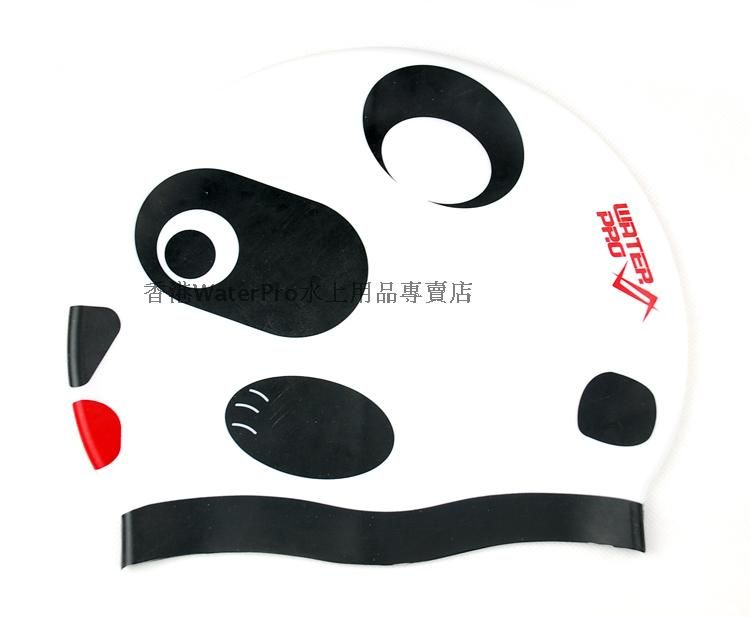 Water Pro Swimming Caps Silicone Panda