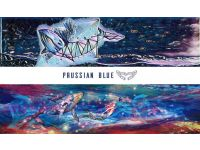 PRUSSIAN BLUE FREE DIVING FINS Fiberglass