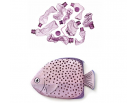 PAAPAOW Spotted Scats fish pouch (PET bottles waste recycled fabric)