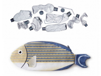 PAAPAOW Striped Surgeonfish pouch (PET bottles waste recycled fabric)