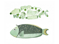 PAAPAOW Parrotfish pouch (PET bottles waste recycled fabric)