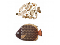 PAAPAOW Collared Butterflyfish pouch (PET bottles waste recycled fabric)