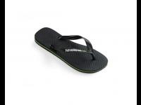 HAVAIANAS BRASIL LOGO FLIP FLOP 4110850 UNISEX - Black/Black