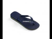 HAVAIANAS BRASIL LOGO FLIP FLOP 4110850 UNISEX - Navy Blue