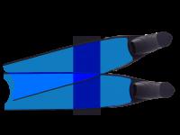 LEADERFINS LIMITED EDITION BLUE COLOUR SEMI-TRANSPARENT BI-FINS-BLK