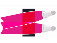 LEADERFINS LIMITED EDITION PINK COLOUR SEMI-TRANSPARENT BI-FINS-WHI