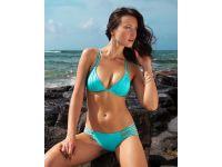 VODA SWIM Turquoise Envy Push Up ® Macrame Top