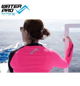 WATER PRO Two Tone Zip Up Rash Guard