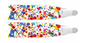 LEADERFINS LIMITED EDITION PAINT BI-FINS-WHI