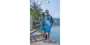 OCEANARIUM T21 Great White shark cloak towel (free size)*110CM X 75CM*